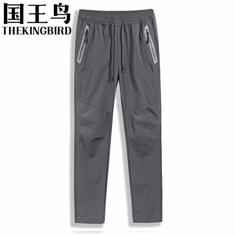 THEKINGBIRD Spring and Autumn running men pants Outdoor sports jogging pants for men Large size running clothes L-6XL 7XL 8XL outdoor softshell hiking pants men 5xl 6xl 7xl 8xl waterproof breathable bottoms male trekking sports large size trousers