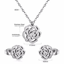 Necklace+Earrings Stainless Steel Set