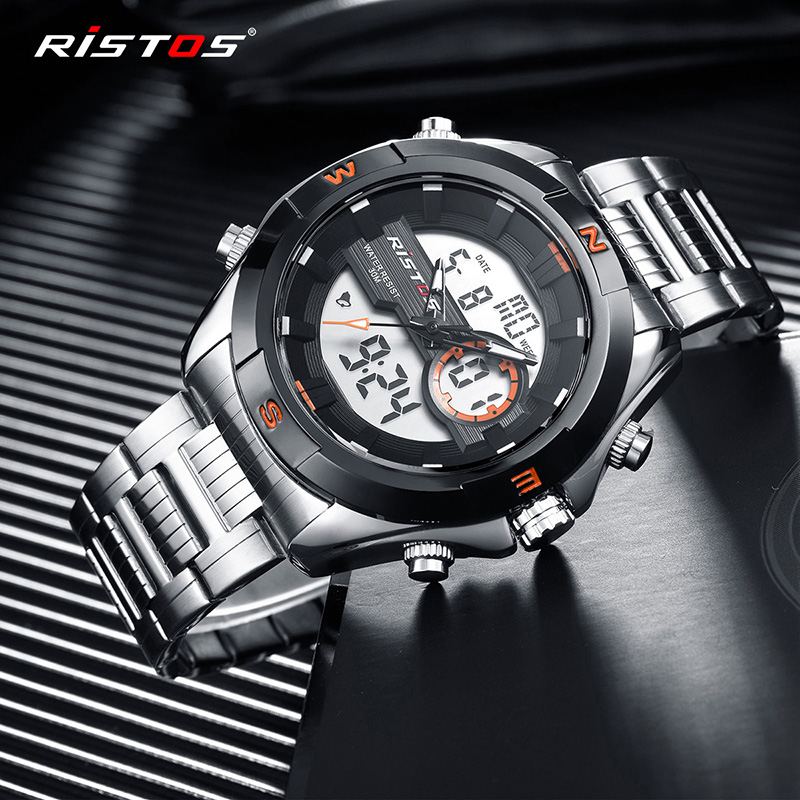 5c42be91ca18 RISTOS Men Fashion Watch Relojes Masculino Hombre Multifunction Man Sport  Watches Chronograph Digital Analog Wristwatch Top 9369. В избранное.  gallery image