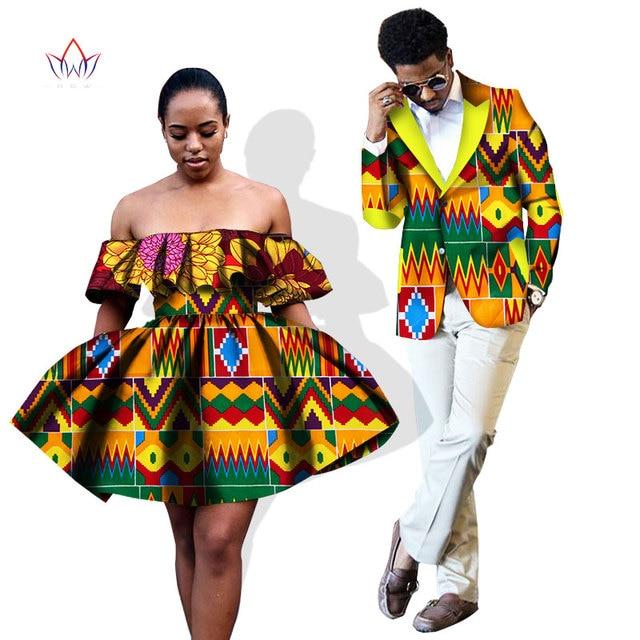 a95bd58a8959b Summer Women Dresses and Men's Blazer Ankara Women African Print Clothing  Dashiki Maxi Dress Plus Size Africa Clothing WYQ53