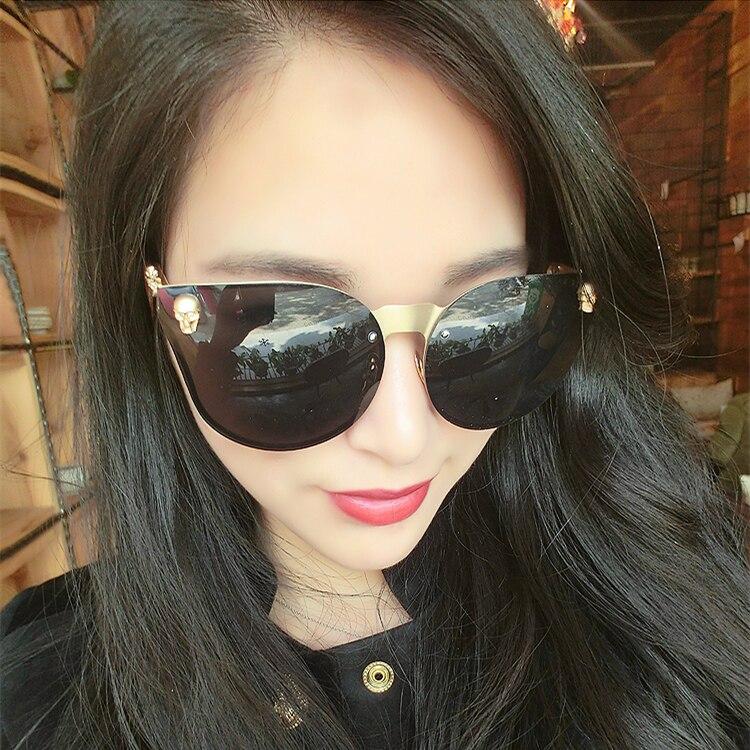 2017 nueva moda oval para mujer marca gafas de sol de lujo oculos - Accesorios para la ropa - foto 4