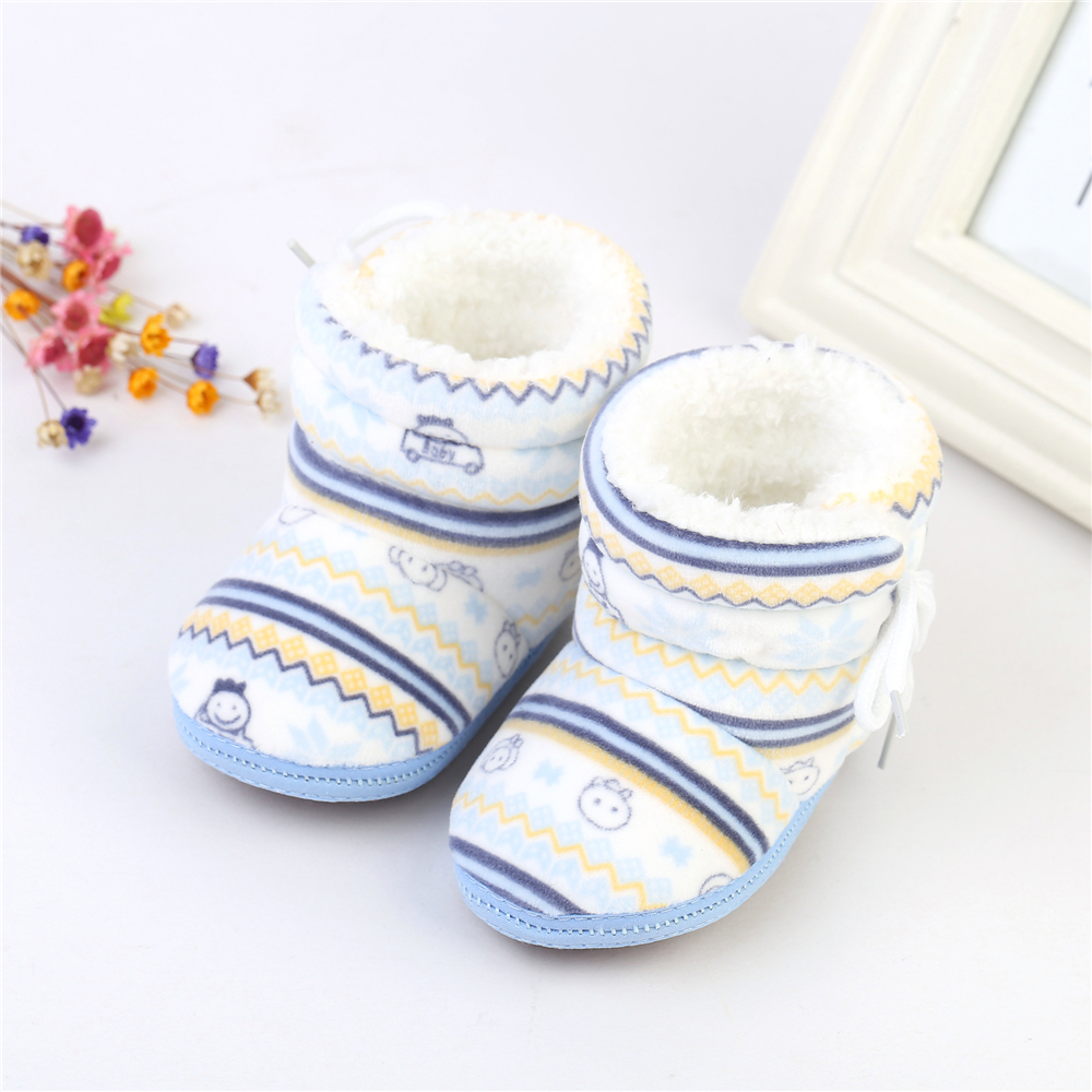 Baby Winter Warm Boots Cotton Padded Infant Toddler Baby Boys Girls Boots Newborn Soft Plush Bebe Boot 6-12 Months