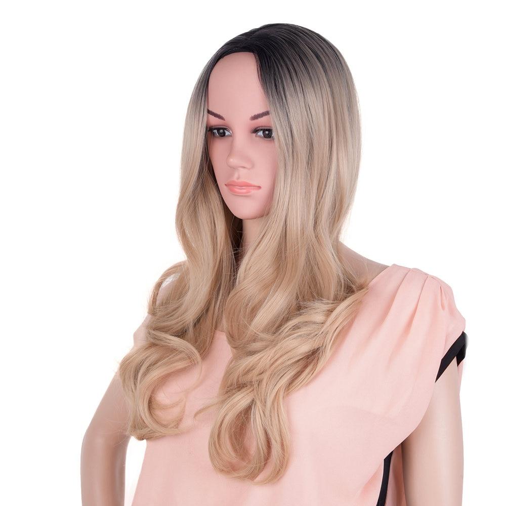 """Feilimei 20 """"Kroppsvåg Långt hårpärla för svarta kvinnor Ombre Blont Svart Brunt Färgat Syntet Cosplay Paryk"""