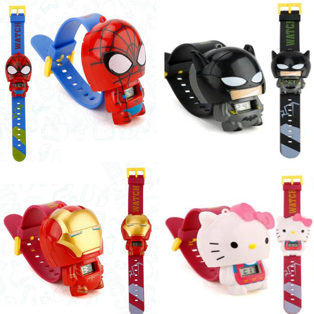 US $2.55 20% OFF|1 pcs Cartoon Digital 3D Watch Telescopic Dial Type Super Hero Spiderman Batman Iron Man Hello Kitty Action Figures Kid Gift Toy-in Action & Toy Figures from Toys & Hobbies on Aliexpress.com | Alibaba Group