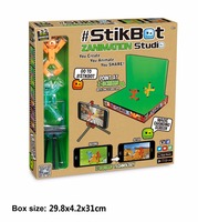 Stikbot Sucker Screen Studio DIY Sticky Robot Dog Studio Action Figure Toy Kids Game Toys For