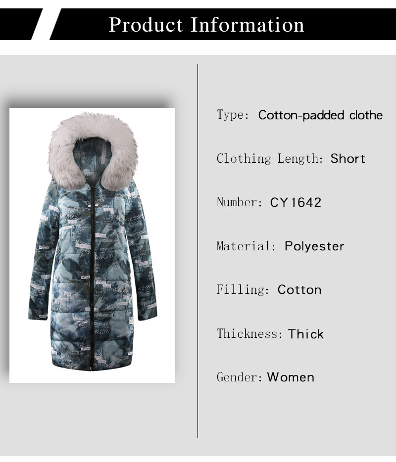 bc6501eaf02 Big Fur winter New Parkas Female Women Winter Coat Thick Cotton ...