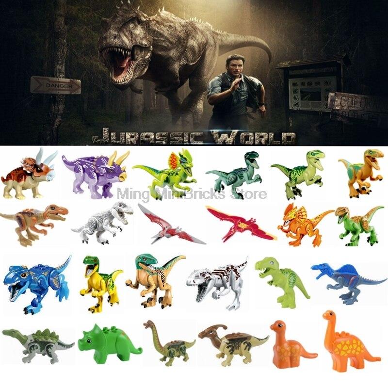 Legoing World Jurassic Park Dinosaurs Tyrannosaurus Rex Single Sale Building Block Toy For Children Compatible Legoings Dinosaur