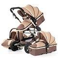 Cochecito de bebé 2 en 1/3 en 1 multifuncional puede sentarse alto paisaje cochecito de dos vías cochecito envío gratis