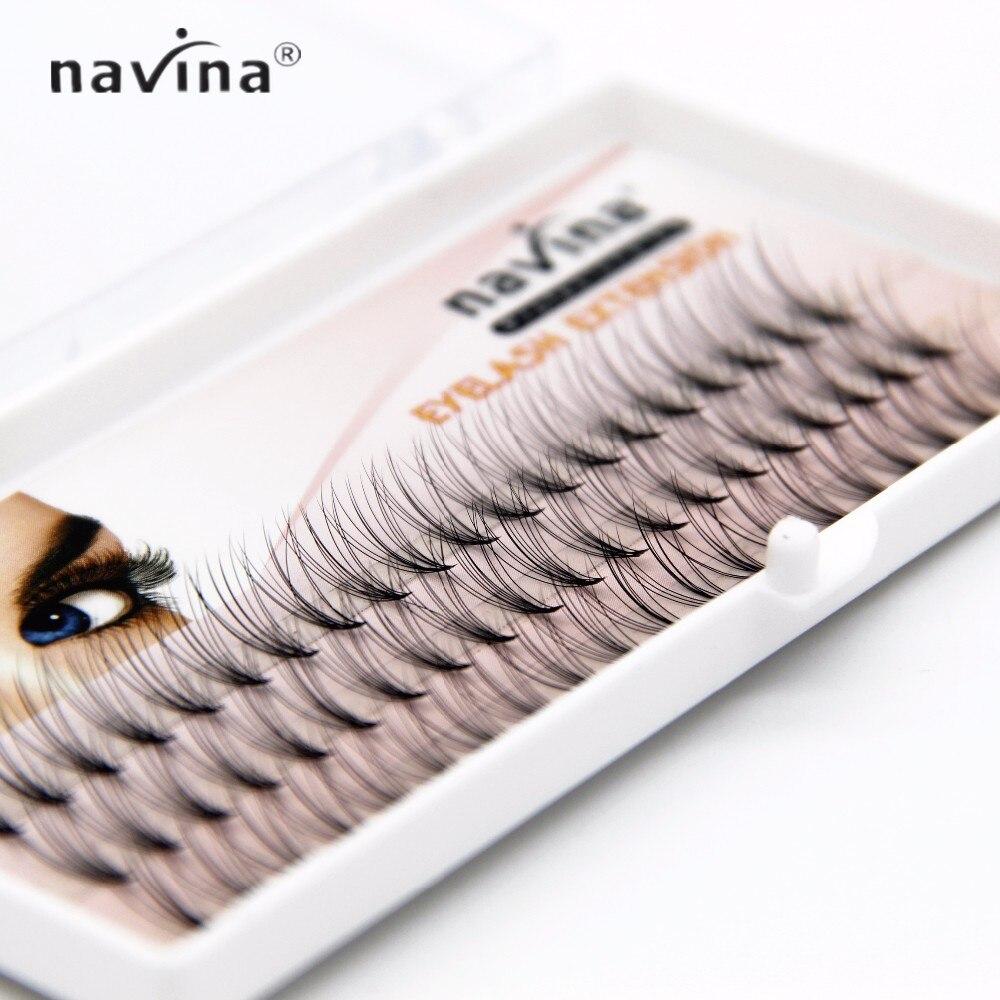 NAVINA 500/pcs nouveauté cils de luxe 6d naturel vison cheveux soie cils extensions de cils faux cils 0.07 épaisseur - 2