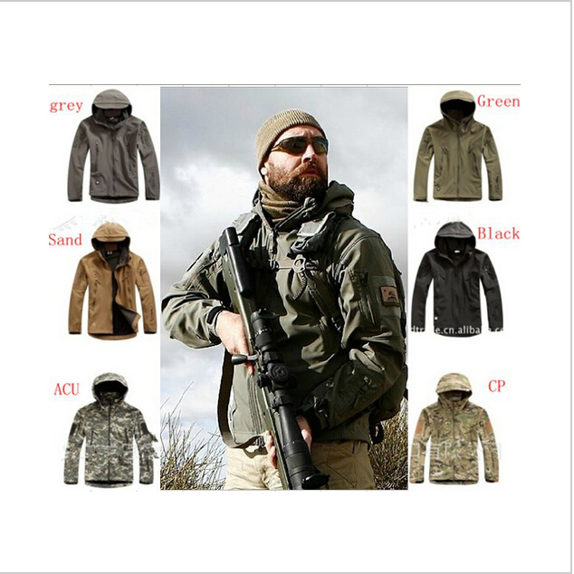 2016 New style Lurker Shark skin Soft Shell TAD V 4.0 Outdoor Military Tactical Jacket Waterproof Windproof Sports Army Clothing lurker shark skin soft shell v4 military tactical jacket men waterproof windproof warm coat camouflage hooded camo army clothing