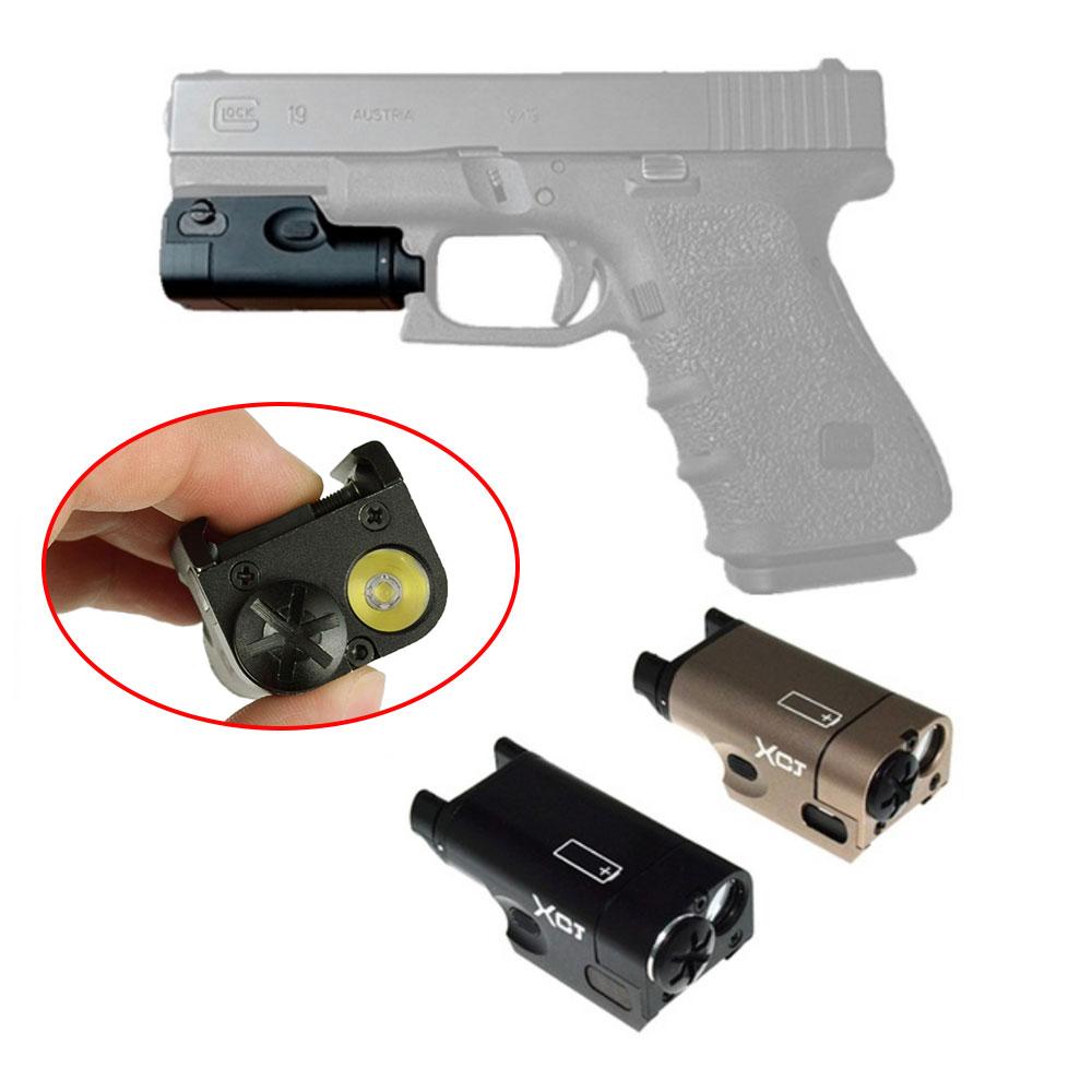 Tactical XC1 MINI Pistol Gun Light Compact Weapon Light LED Flashlight For Airsoft Handgun M92 Pistol Lanterna Used In Glock