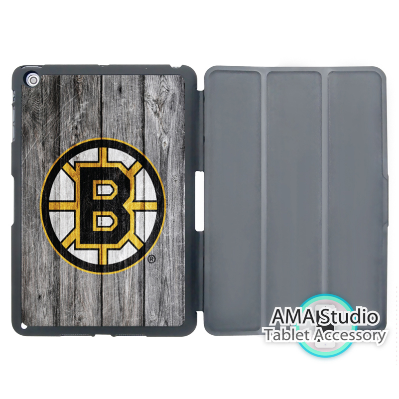 Boston Bruins Ice Hockey Cover Case For Apple iPad Mini 1 2 3 4 Air Pro 9.7 10.5 12.9 20 ...