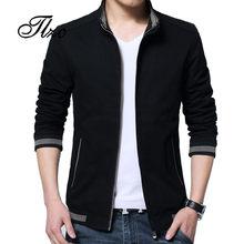 TLZC Neue England Stil Stehkragen Mann Fashion Solid Blazer Mantel 2018  Herbst Winter Männer Casual Baumwolle Jacke Plus Größe m. a62211755f