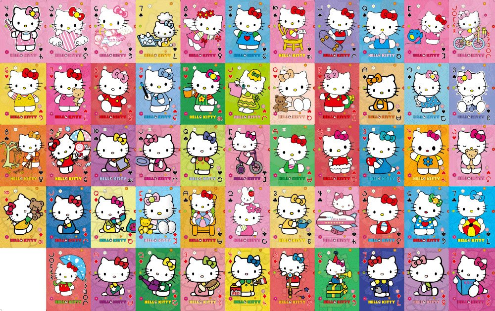 hot 50sets  lot hello kitty playing cards poker set cute