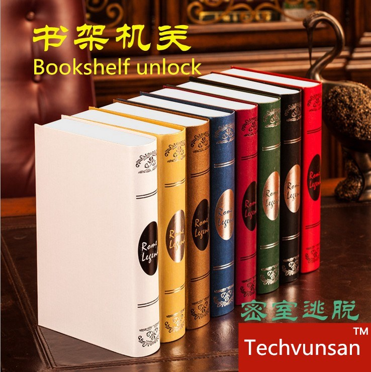 Books prop for escape mysterious room Real life Room Escape magic game props escape Party Supplies