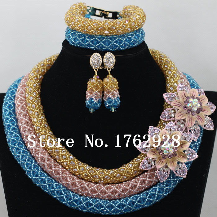 Gorgeous Nigerian Beads Crystal Necklace Set Latest Beads Design ...