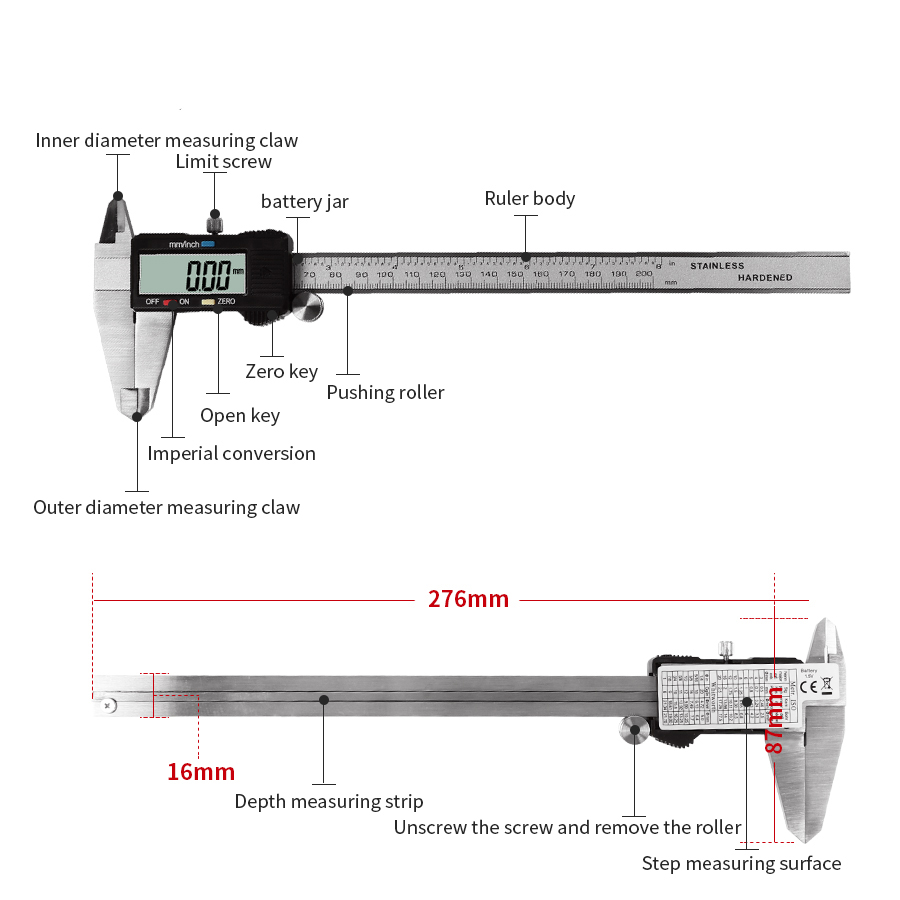 Electronic Digital Measuring Instrument Vernier Caliper Stainless Diagram Steel High Precision Tool 0 100 150 200 300mm In Calipers From Tools On