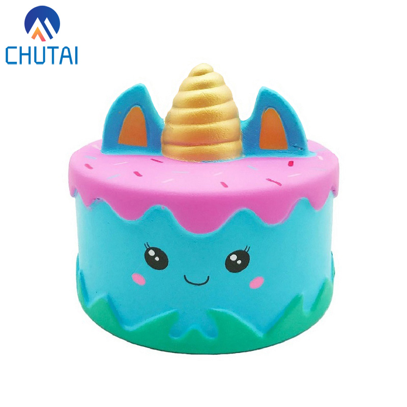 Kawaii Squishy Slow Rising Unicorn Cake Squeeze Toys Soft Scented Bread Stress Relief Venting Plaything Xmas Party Decor 11*10CM