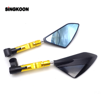 8 10mm universal motorcycle Accessories mirrors cnc Rearview Side Mirror FOR honda silver wing gsxr 600 k5 rsv4 yamaha xj600