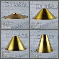 Antique Brass Finish Iron Lampshade D155mmX180mm Edison Pendant Lamp Shade DIY Bronze Lighting Shade Cone Design