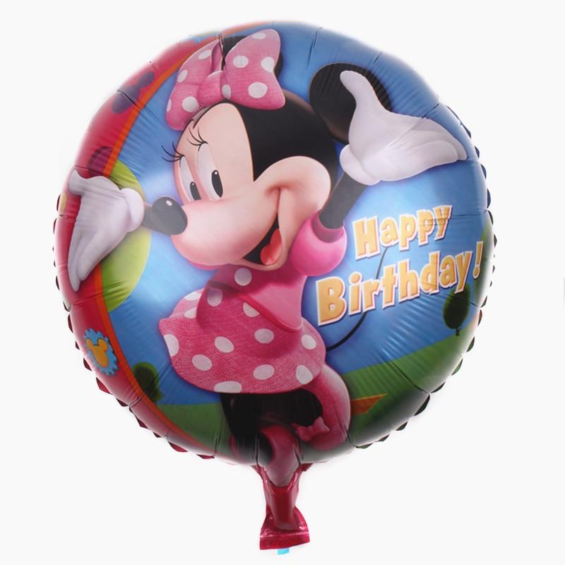 Все манеры Микки Минни воздушные шары на день рождения надувные декорации для вечеринки воздушные шары Детские Классические игрушки мультфильм шляпа - Цвет: 19