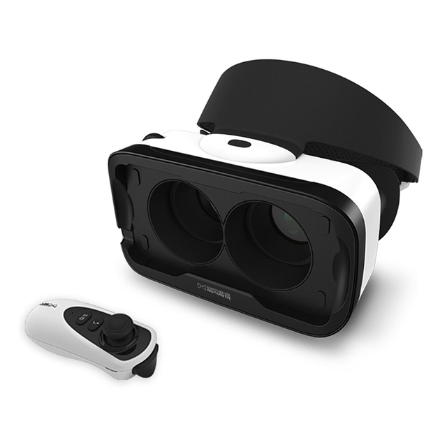 For smartphone 4 Generation Virtual Reality 3D VR Head-Mounted Glasses+Bluetooth 4.1 remote control For Ios system