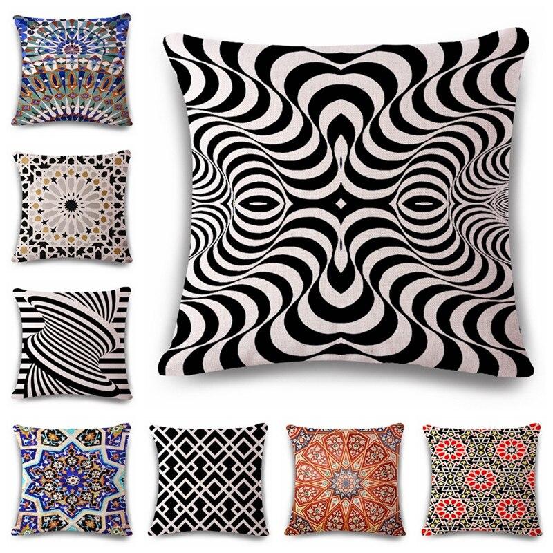 Dekoratīvais mest spilvena vāciņš 3D Vision Pattern ģeometrijas - Mājas tekstils