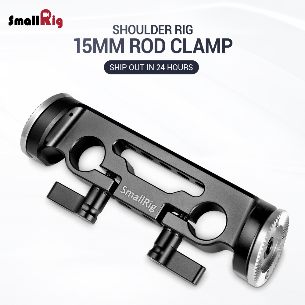 SmallRig 15mm Rod Clamp with 31 8mm Diameter ARRI Rosette 1898