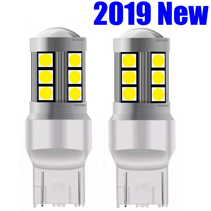 2pcs 2019 NEW T20 7443 W21/5W High Quality 3030 LED Auto Tail Brake Light Car DRL Driving Lamp Turn Signals Bulb Amber Red White