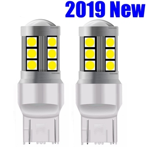 2pcs 2019 NEW T20 7443 W21/5W High Quality 3030 LED Auto Tail Brake Light Car DRL Driving Lamp Turn Signals Bulb Amber Red White(China)