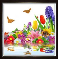 Diamond painting Embroidery Sets Crafts Needlework Cross stitch Kit Diamond Mosaic 3d Rhinestone Paste painting tulip