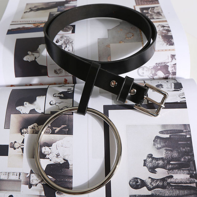 [TWOTWINSTYLE] Round Metal Circle Designer Belts for Women New Fashion