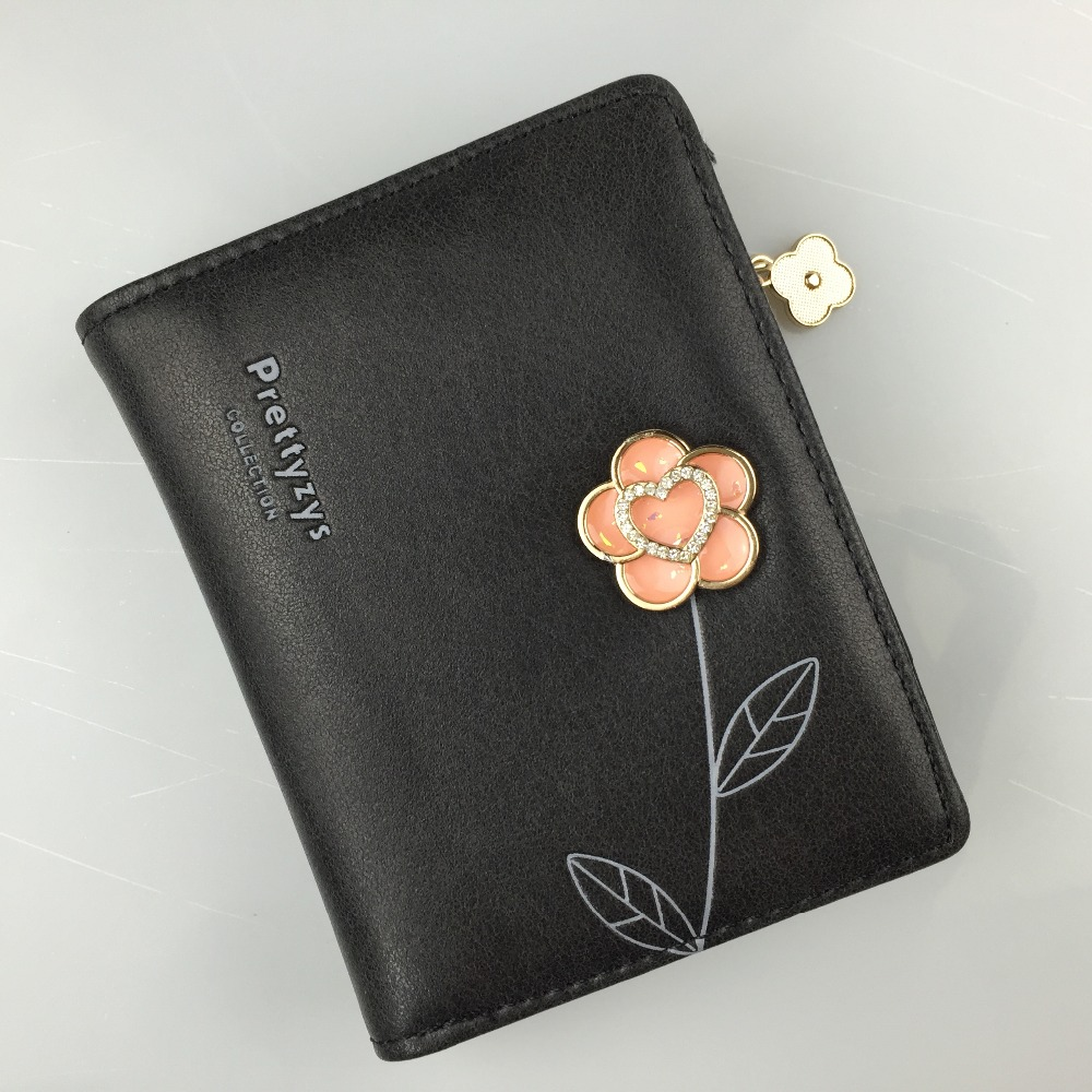 цены New Fashion Brand Women Wallets Cute Leather Wallet Female Mini Coin Purse Wallet Women Card Holder Wristlet Money Bag Small Bag