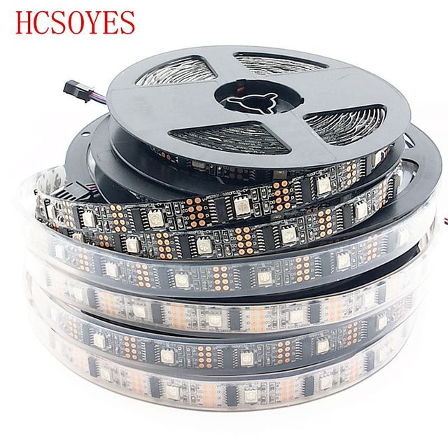 HCSOYES DC5V WS2801 32leds/m IP30/IP65/IP67 5050 rgb strip Individually addressable Arduino development ambilight TV