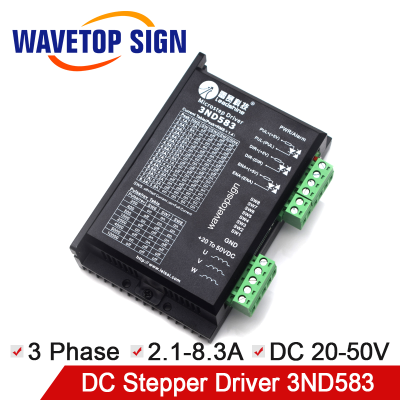 Original Leadshine Driver 3ND583 3DM580 3DM683 3Phase Laser Machine Parts CNC Router Machine Parts Match with