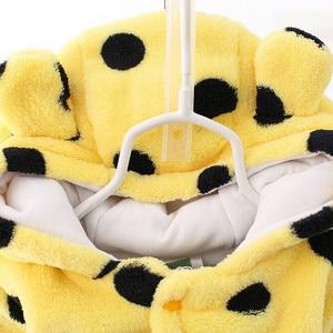 Image 3 - Pelele de oso bebé lindo Unisex, ropa de invierno grueso bebés, 3 colores para recién nacido, CL0430