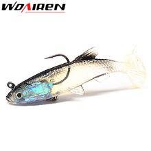 1Pcs Paillette Fishing Lure bass 8cm 13.8g Artificial Soft bait Carp Crankbait with Treble Tackle Hooks Fishing accessories