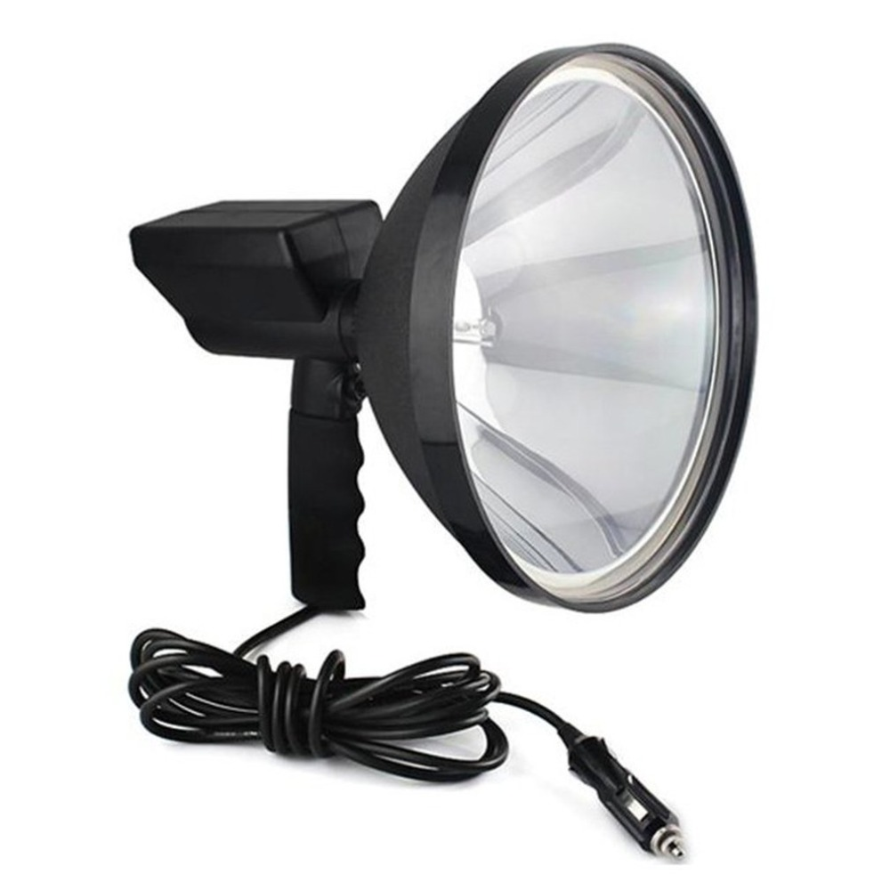 Dropshipping 9 inch Portable Handheld HID Xenon Lamp 1000W 245mm Outdoor Camping Hunting Fishing Spot Light Spotlight Brightness 10 75w 240mm hid xenon handheld portable driving search spotlight hunting fishing hiking camping emergency light 5500lm 9 32v