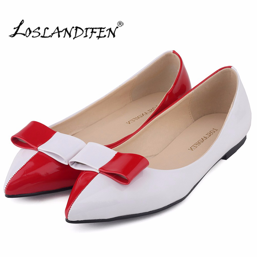 New Classics Pointed Toe Mix Colors Flats Shoes Women Vintage Bow Low Heels Slip On Shoes for Women Spring Casual Shoes 020-1PA beyarne hot sale new fashion spring women flats shoes ladies bow pointed toe slip on flat women s shoes free shipping size34 40
