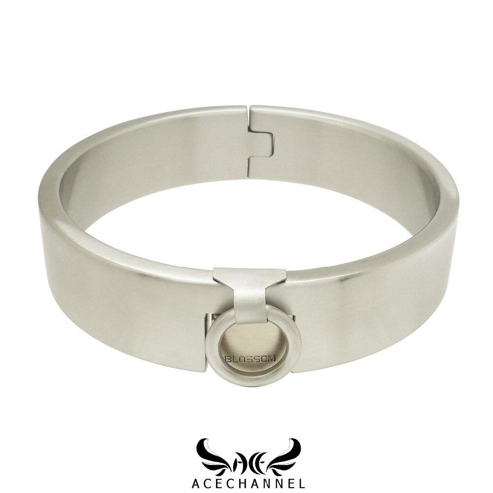 stainless steel slave padlock collar torque choker necklace fetish wear jewelry with bondage restraints set
