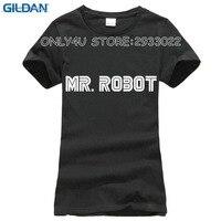 GILDAN Mr Robot T Shirts Women Fashion TV Show Logo T Shirt Tees Cotton Short Sleeve