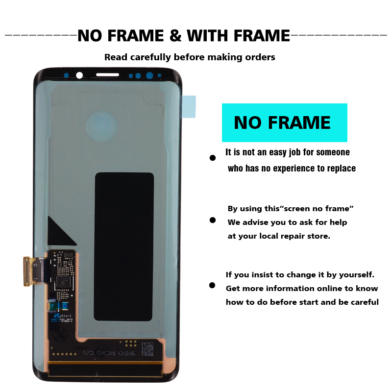 HTB1BcZ0dA5E3KVjSZFCq6zuzXXa6 100% ORIGINAL SUPER AMOLED Replacement for SAMSUNG Galaxy S9 LCD Touch Screen Digitizer with Frame S9 G960 LCD+Service package
