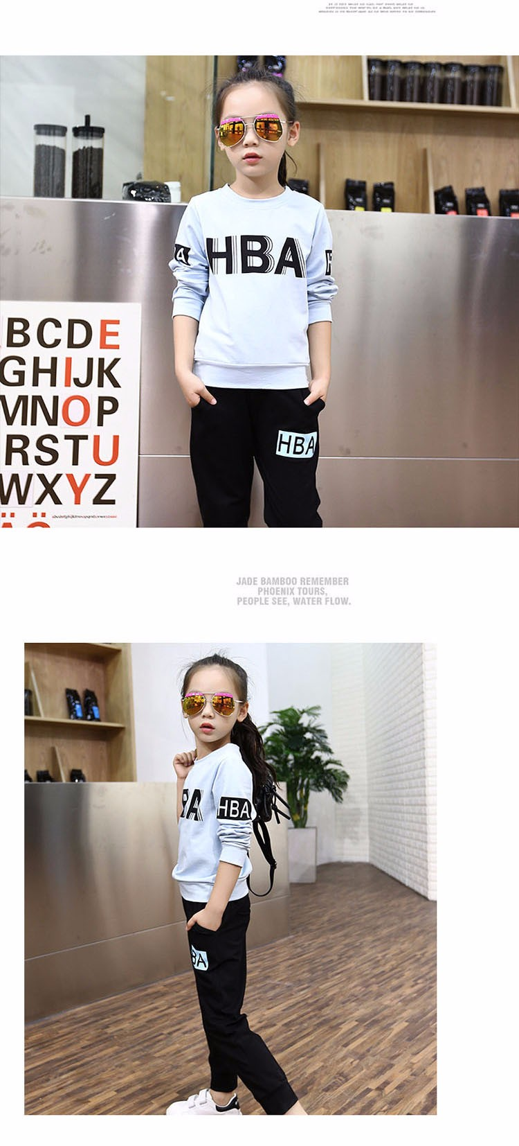 little teenage girls clothes sports suits girls outfits tracksuit autumn spring letters tops t shirts black pants tracksuits girls sets 5 6 7 8 9 10 11 12 13 14 15 16 years old little big teenage girl children sport sets clothing set for gir (5)