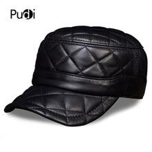 HL031 MENS genuine leather baseball cap hat brand new military caps hats