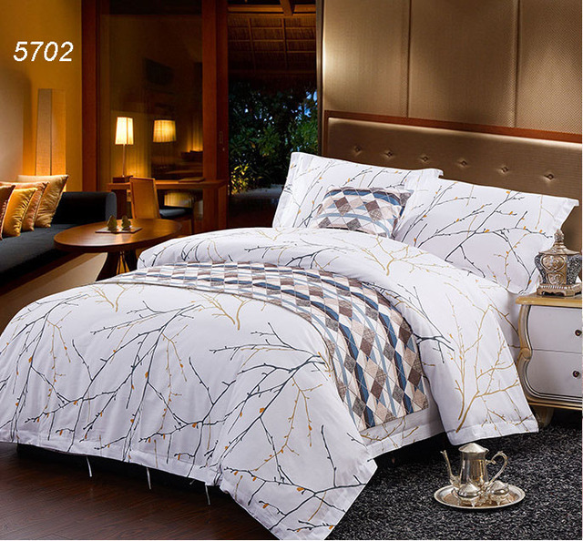 Winter Tree Branch Drawing Hotel Bedding Sets Cotton Bed Clothes Home Textiles Quilt Cover Sheet