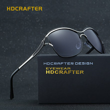 New HDCRAFTER Lady Sunglasses Toad Woman Eyewear Polarized Goggle Cat Eye Butterfly Fishing Driver UV400 CR39 Pilot Fashion E020