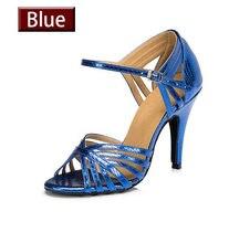 Hxyoo azul oro rojo colores satén mujer zapatos de baile 4.5 cm-8.5 cm  Talón de cuero suaves del envío libre salsa latina zapato. 40c01430fd83