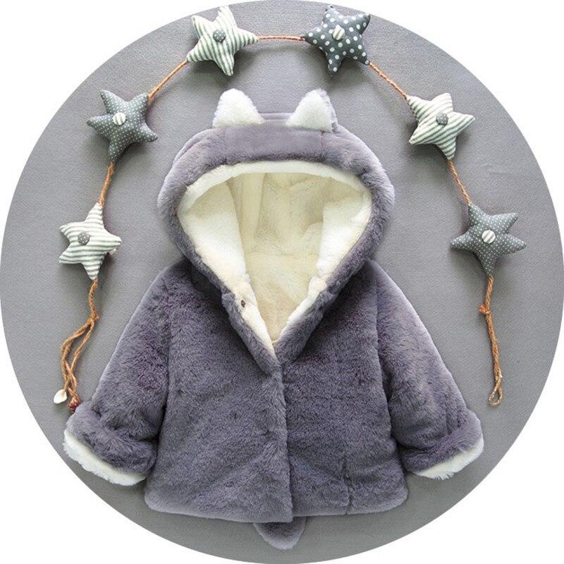 Baby Jungen Mädchen Jacke Winter Kleidung Faux Pelz Fleece Mantel Dicken Cartoon Kaninchen Kinder Weihnachten Schneeanzug Baby Mit Kapuze Oberbekleidung Volumen Groß