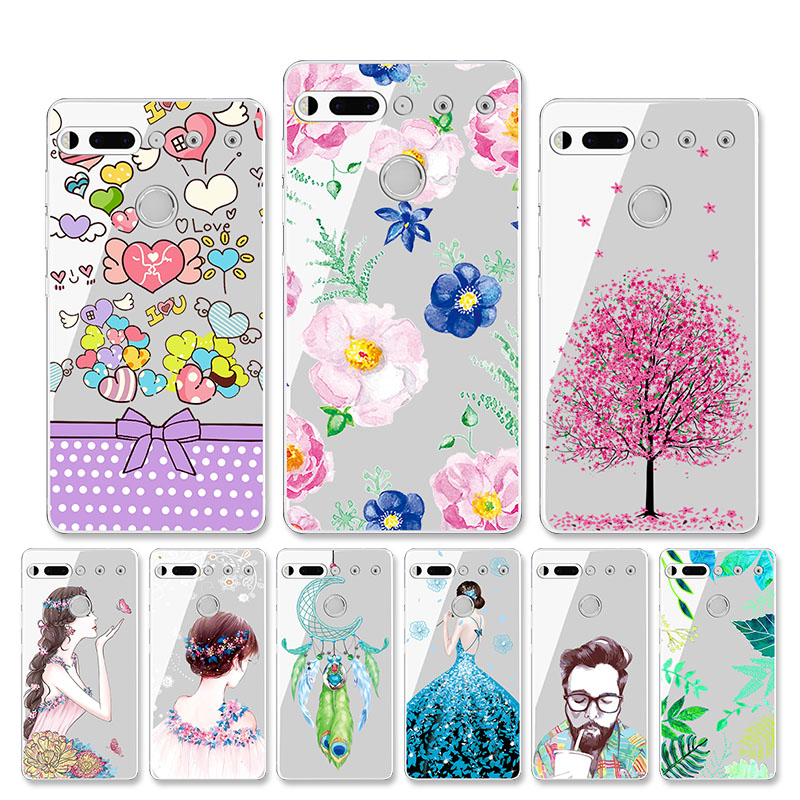 Case For Essential Phone PH-1 Case Silicone Soft TPU Transparent Back Cover For Essential Products PH-1 PH1 Phone Bumper Housing(China)