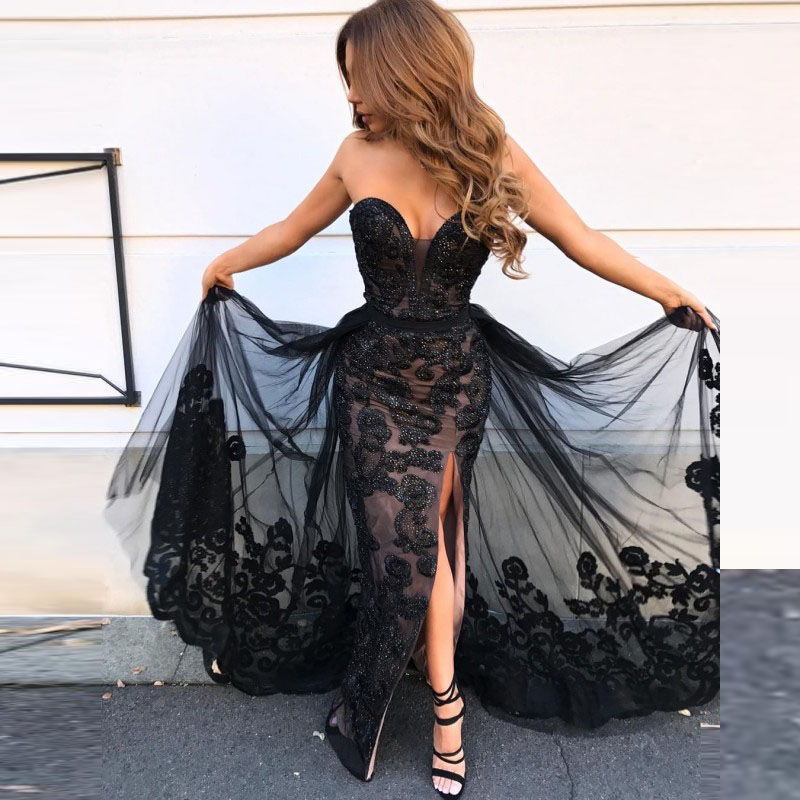 Evening   Gown Off Shoulder Lace Appliques   Evening     Dresses   Tulle Beaded A Line See Through abiye elbise   Dress   Party Sweetheart